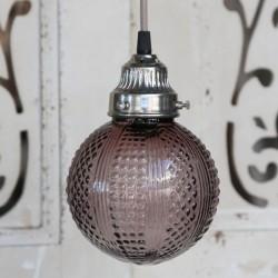 Szklana Lampa Kula Fiolet
