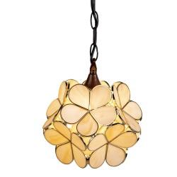 Lampa Stołowa Tiffany Kwiatki Krem