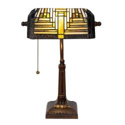 Lampa Biurkowa Witrażowa Tiffany A