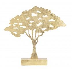 Złota Dekoracja Drzewo Metalowe Glam A