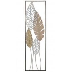 Metalowy Dekor Ścienny z Motylami A