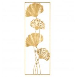 Złoty Dekor Ścienny Kwiaty C