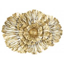 Złoty Dekor Ścienny Kwiaty D