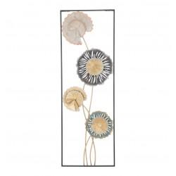 Dekoracja Ścienna Metalowe Kwiaty A