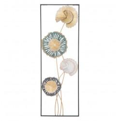 Dekoracja Ścienna Metalowe Kwiaty B