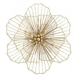 Złota Dekoracja Ścienna Metalowy Kwiat A