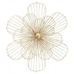 Złota Dekoracja Ścienna Metalowy Kwiat B