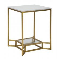 Metalowe Stoliki Złote Marble 2szt.