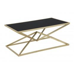Złoty Stolik z Czarnym Blatem Piramid