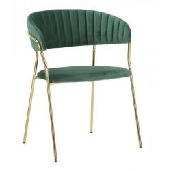 Złote Krzesła Glam Emily Zielone 2szt.