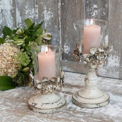 Świecznik Prowansalski Chic Antique Kremowy A