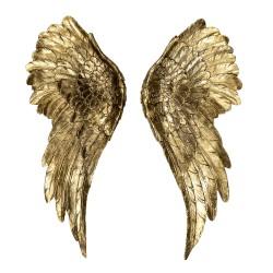 Metalowa Dekoracja Skrzydła z Koroną