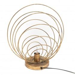 Lampa Stołowa Metalowe Liście