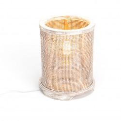 Lampa Stołowa Antyczne Złoto A