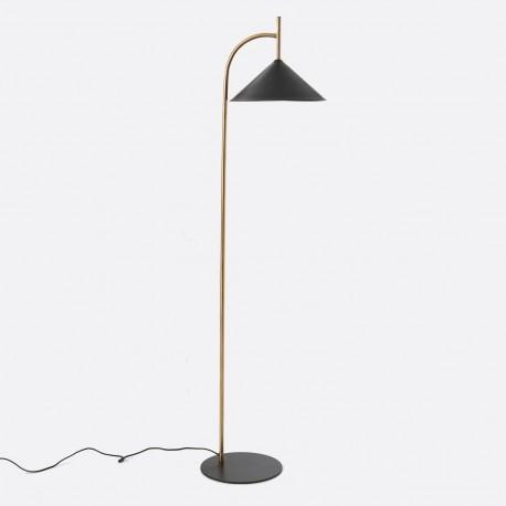 Lampa Podłogowa Złoto-Czarna A