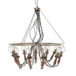 Złota Lampa Sufitowa C