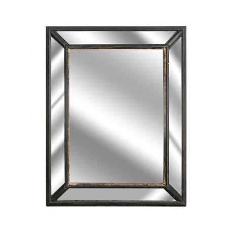 Ciemne prostokątne lustro z celowymi odpryskami farby