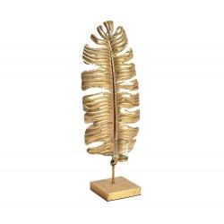 Świecznik Belldeco Gold Line Liść
