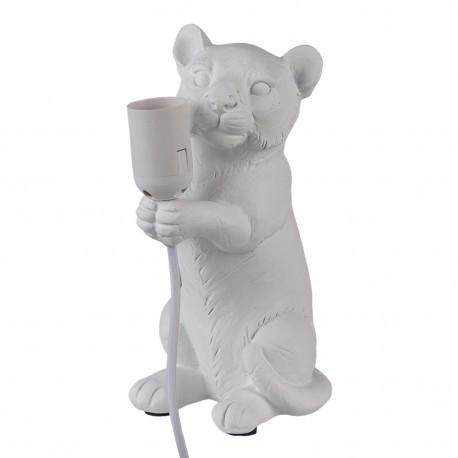 Lampka Stołowa Biała Mysz Clayre & Eef