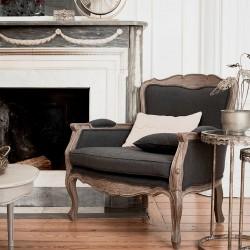 Fotel w Stylu Francuskim Szary Lorani