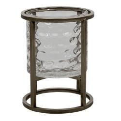 Szklany Lampion Loft Na Metalowej Podstawie S Clayre & Eef