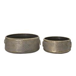 Metalowe Tace Okrągłe 2 szt. A Clayre & Eef