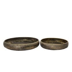 Metalowe Tace Okrągłe 2 szt. B Clayre & Eef
