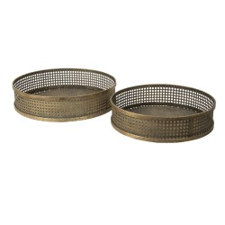 Metalowe Tace Okrągłe Duże 2 szt. Clayre & Eef