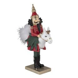 Figurka Świąteczna Dziadek Do Orzechów Na Koniu A Clayre & Eef