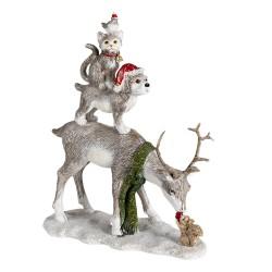 Figurka Świąteczna Kot i Pies Clayre & Eef
