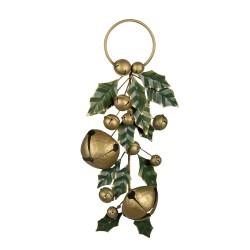 Metalowa Dekoracja Świąteczna Ostrokrzew z Dzwoneczkami Clayre & Eef