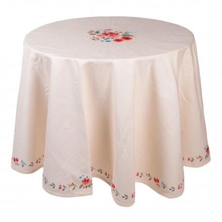 Obrus Prowansalski Prowansalski w Kwiaty Okrągły Clayre & Eef