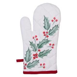 Rękawica Kuchenna Świąteczna Ostrokrzew A Clayre & Eef