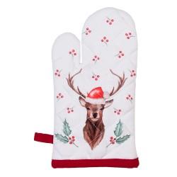 Rękawica Kuchenna Świąteczna Ostrokrzew B Clayre & Eef