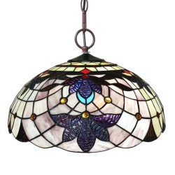 Lampa Tiffany Sufitowa Okrągła A Clayre & Eef
