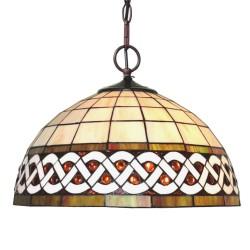 Lampa Tiffany Sufitowa Okrągła B Clayre & Eef
