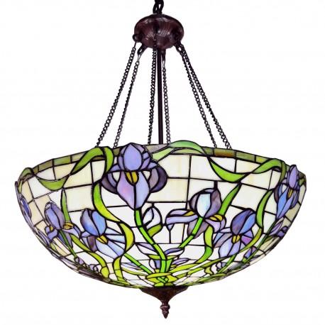 Lampa Tiffany Sufitowa Okrągła D Clayre & Eef