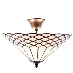 Lampa Tiffany Sufitowa Okrągła E Clayre & Eef