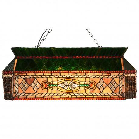 Długa Lampa Tiffany Sufitowa Clayre & Eef