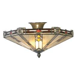 Lampa Tiffany Plafon G Clayre & Eef