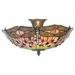 Lampa Tiffany Plafon H Clayre & Eef