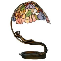 Lampa Biurkowa Tiffany Leżąca Kobieta Clayre & Eef