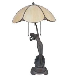 Lampa Biurkowa Tiffany Stojąca Kobieta Clayre & Eef