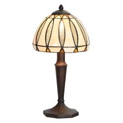 Lampa Stołowa Tiffany Brązowo-Kremowa E Clayre & Eef