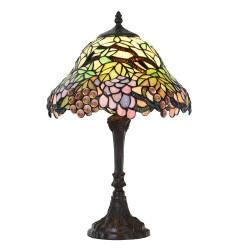 Lampa Stołowa Tiffany Kolorowa A Clayre & Eef