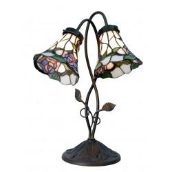 Lampa Tiffany Stołowa Podwójna Clayre & Eef
