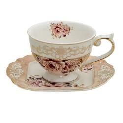 Porcelanowe Filiżanki Prowansalskie w Kwiaty D Clayre & Eef