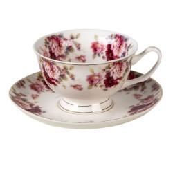 Porcelanowe Filiżanki Prowansalskie w Kwiaty L Clayre & Eef