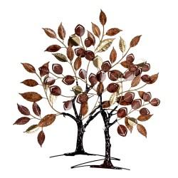 Dekoracja Ścienna Metalowe Drzewa Clayre & Eef