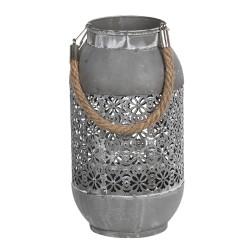 Ażurowy Lampion Metalowy Szary B Clayre & Eef